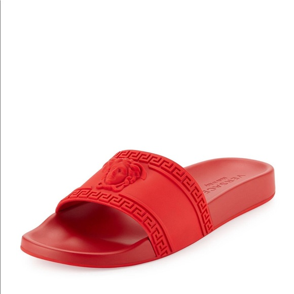0c68f2b172ed4 Versace Red Palazzo Slides   Sandals. M 5b350da512cd4a440462e460
